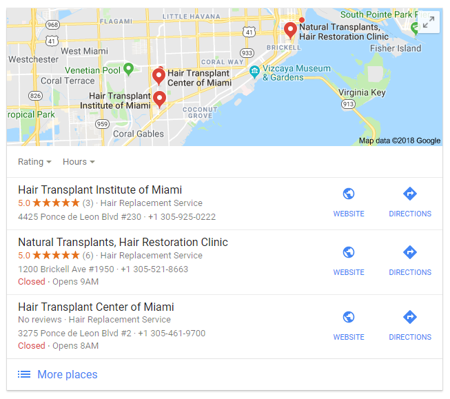 Google adds a block with Google Maps into search results