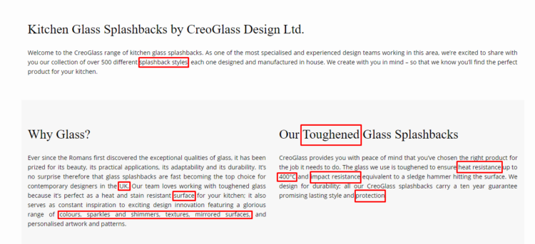 Content of Creoglass.co.uk