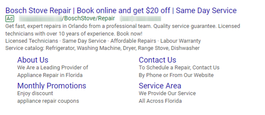 ppc for appliance repair business
